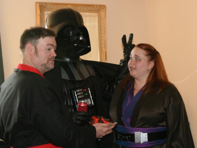 Vader working some kind of sorcery.